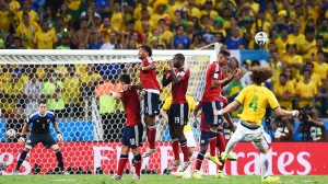 Gol David Luiz Brazilia-Columbia