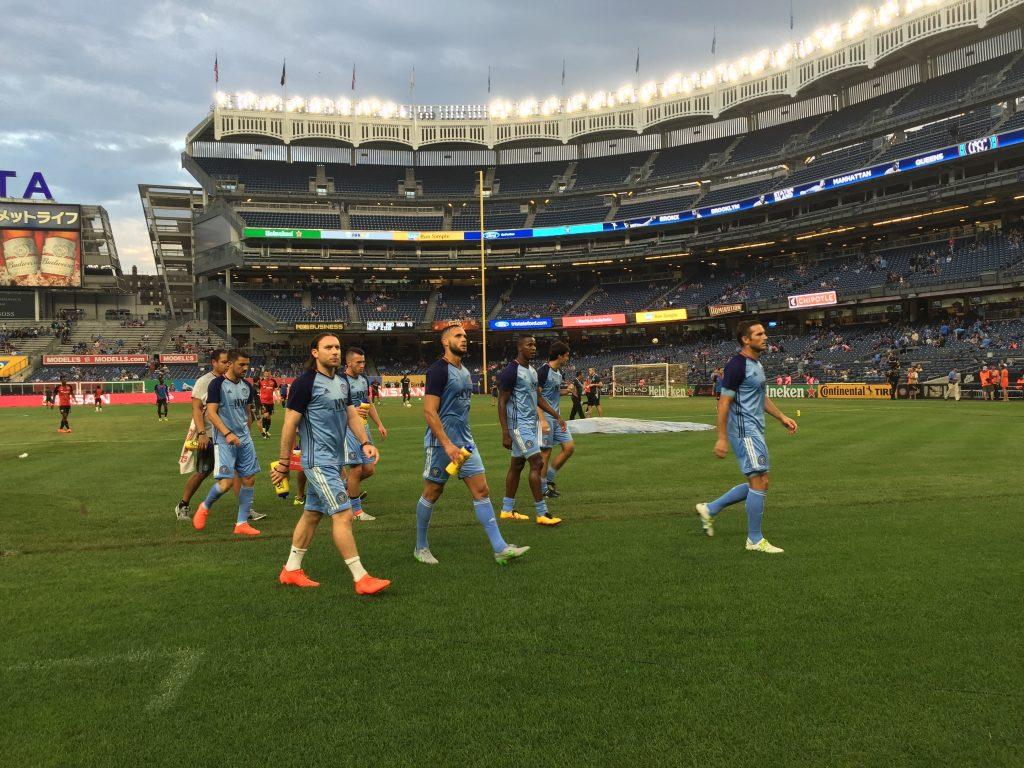 Pirlo, Lampard și David Villa sunt antrenați de managerul Patrick Vieira la New York City FC.