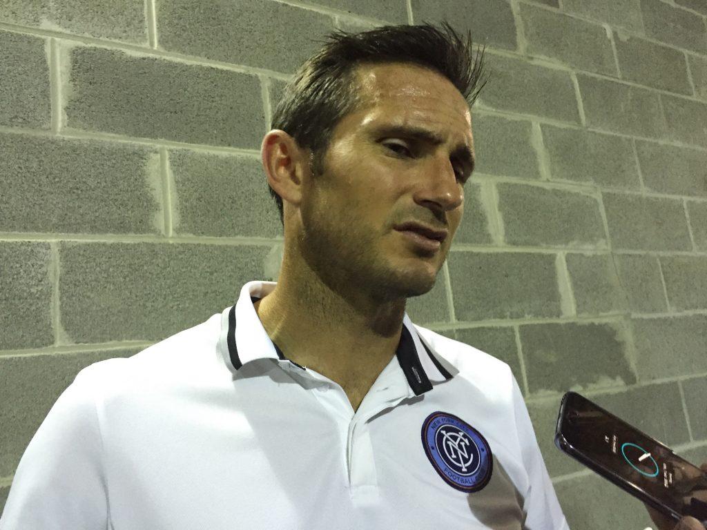 De vorbă cu Frank Lampard după meciul dintre NYC FC și DC United.