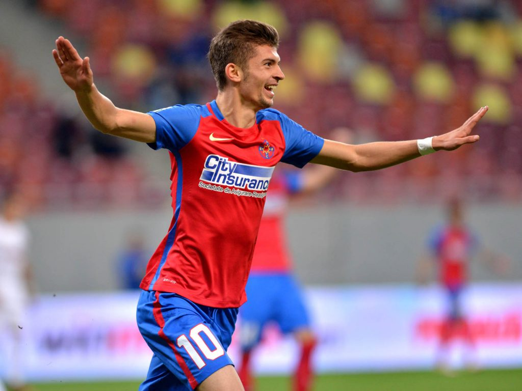 Florin Tanase după golul marcat celor de la CFR Cluj. Foto: Sportpictures.eu