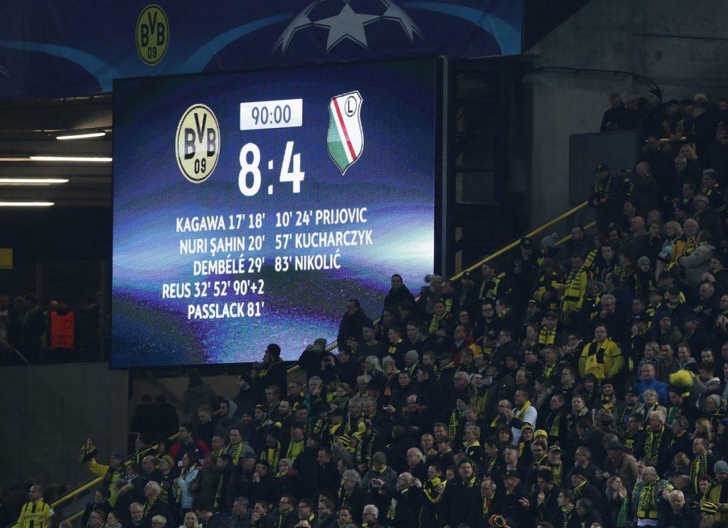 Dortmund - Legia 8-4