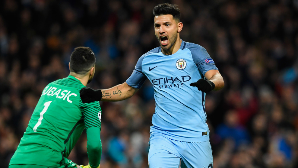 Kun Aguero Manchester City - AS Monaco