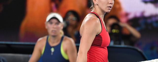 Australian Open 2018 Simona Halep Caroline Wozniacki